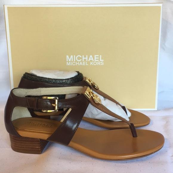 Michael Kors Shoes - Michael Kors Hamilton T-Strap in Walnut